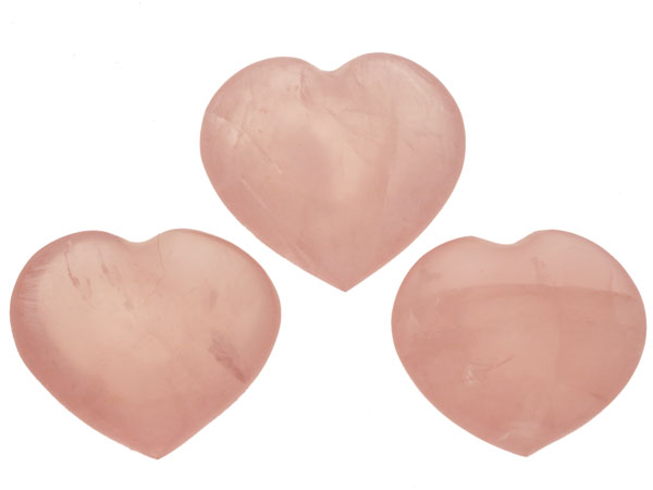 mountain crystal hearts pink